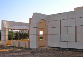 28 novembre 2009. Mise en place des pierres constituant les arches.